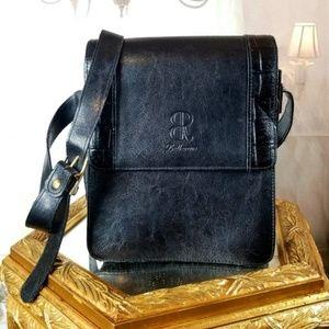 Bellerose Italian Leather Crossbody Organizer Bag